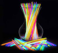 Светящиеся палочки неоновые 100 шт светящиеся браслеты неоновые | код: 10.01800