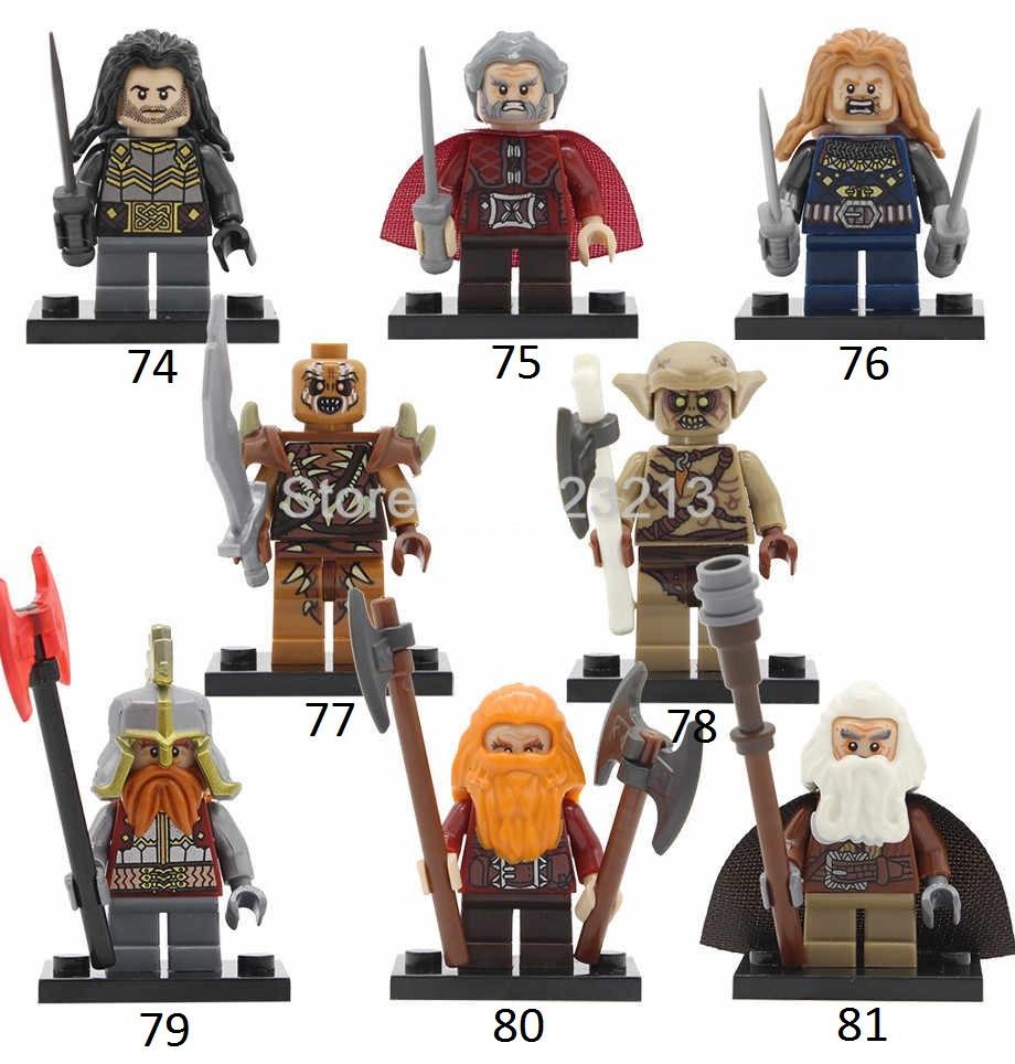 Властелин колец Lord of the Rings мини-фигурки Лего Lego Фили,Даин,Кили,Оин,Глоин,Дори,Гоблин,Орк