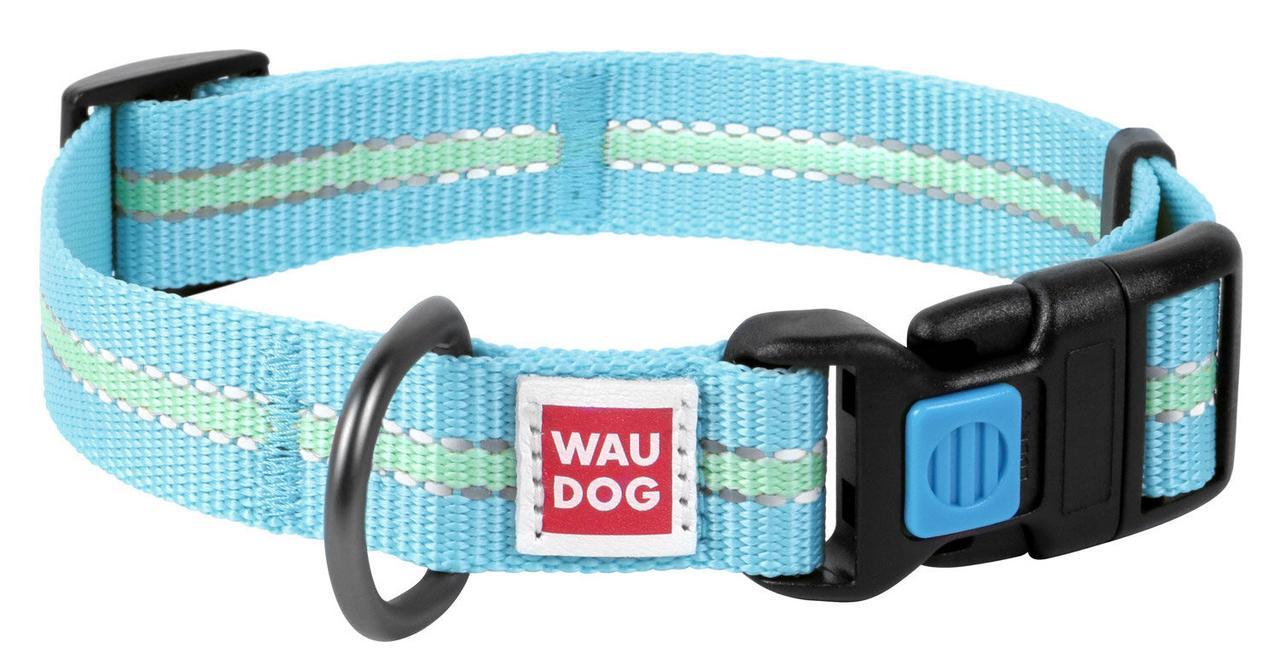 Нашийник 23-35 см 15 мм (світиться в темряві) Waudog Nylon світлонакопичувальний (Ваудог Нейлон) для собак