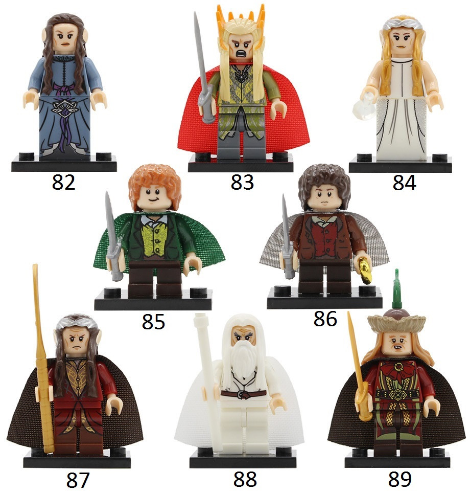 Властелин колец Lord of the Rings фигурки Лего Lego Фродо,Гендальф, Трандуил,Элронд,майор,Гала́дриэль,А́рвен
