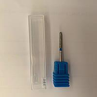 Фреза алмазная, удлиненная пуля, безопасная, синий пояс FT-03