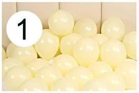 """Воздушные латексные шары """"Macaron""""12""""(30см) Жёлтый Макарун, В упак:100 шт. Пр-во: Китай"""