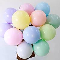 """Воздушные латексные шары """"Macaron""""12""""(30см) Ассорти Макарун, В упак:100 шт. Пр-во: Китай"""