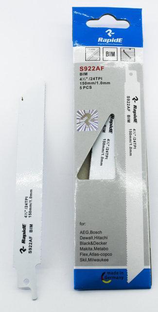 Полотно для сабельной электро ножовки S922AF BIM(биметалл) L=150mm