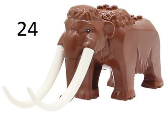 Фигурки животных Мамонт Duplo animal Дупло лего Lego 60195 Bela 10997