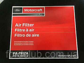 Фильтр воздушный Ford Fusion USA 1,5; 1,6; 2,0 эко; 2,5. 2.7; Motorcraft FA1912A