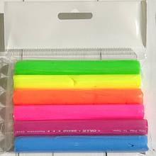 Полимерная глина Пластишка Набор 6 цветов флуоресцентный. Полімерна глина Пластішка  флуоресцентний