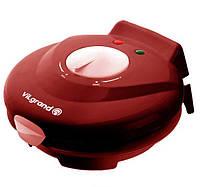Вафельница электрическая VILgrand VW0754C 750 ВТ + конус для рожков и мороженого /красная/
