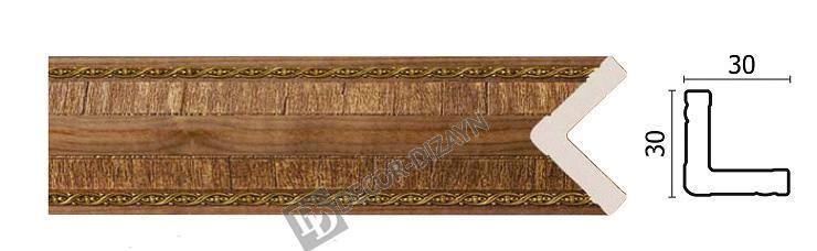 Угловой молдинг Арт-Багет 143-3, интерьерный декор.