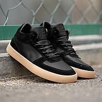 Мужские кроссовки South Wild black. Натуральная замша, кожа, фото 1