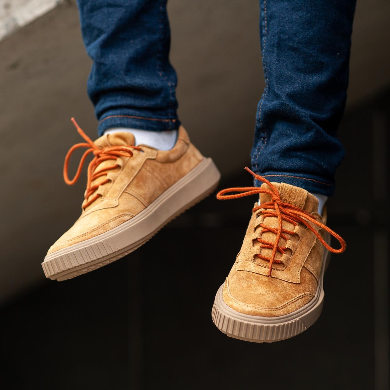 Мужские кроссовки South Loft brown. Натуральная замша