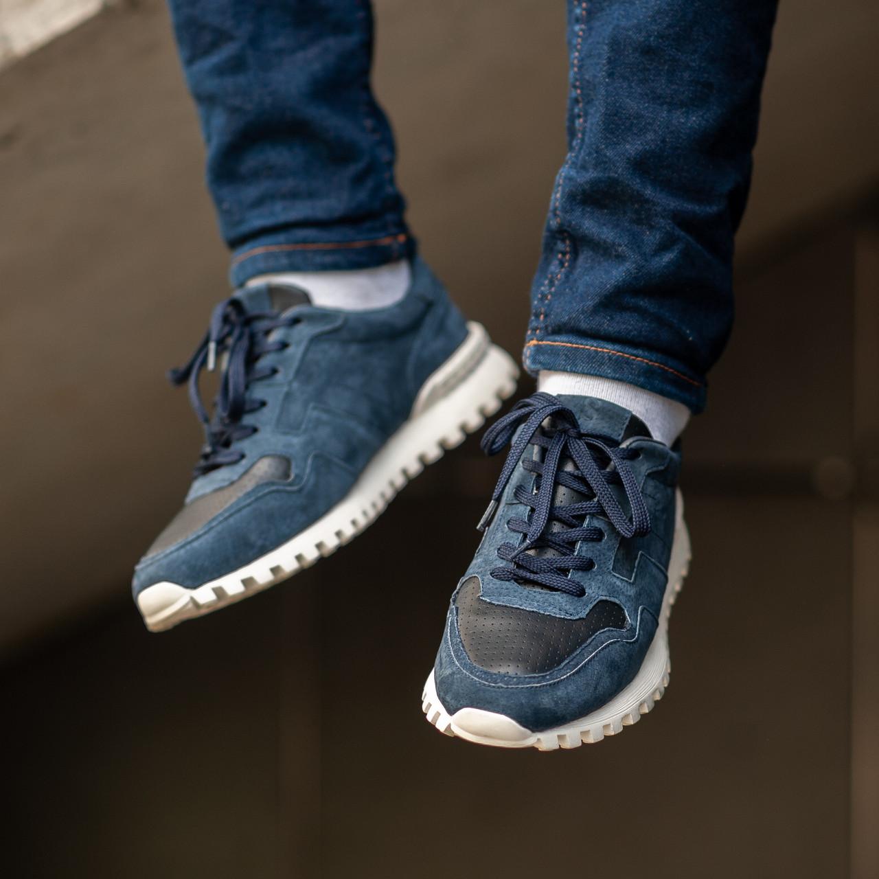 Мужские кроссовки South Classic blue. Натуральная замша