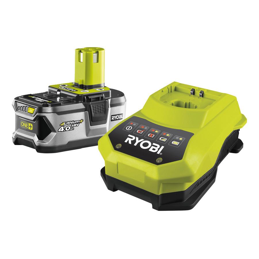 Аккумулятор (18 В; 4 А*ч; Li-Ion) и зарядное устройство Ryobi RBC18L40