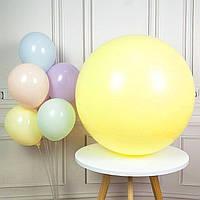 """Воздушные шары гиганты """"Macaron"""". Цвет: Жёлтый. Размер: 36""""(90см). Пр-во: Китай., фото 1"""