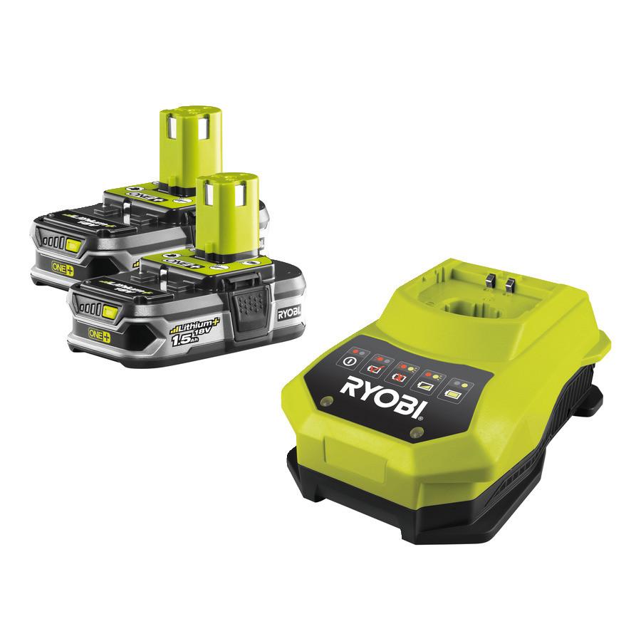 Аккумулятор (18 В; 1.5 А*ч; Li-Ion) 2 шт. и зарядное устройство Ryobi RBC18LL15