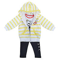 Детский спортивный костюм для девочки Одежда для девочек 0-2 BIMBUS Италия 161IEEP004 Белый,желтый,черный