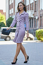 Повседневное платье-пиджак фасон прямой цвет марсала, фото 3