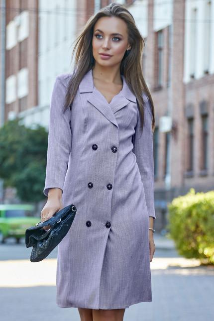 Повседневное платье-пиджак фасон прямой цвет марсала