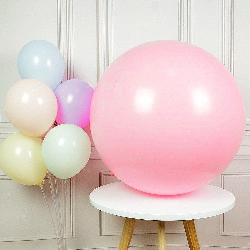 """Воздушные шары гиганты """"Macaron"""". Цвет: Розовый. Размер: 36""""(90см). Пр-во: Китай."""