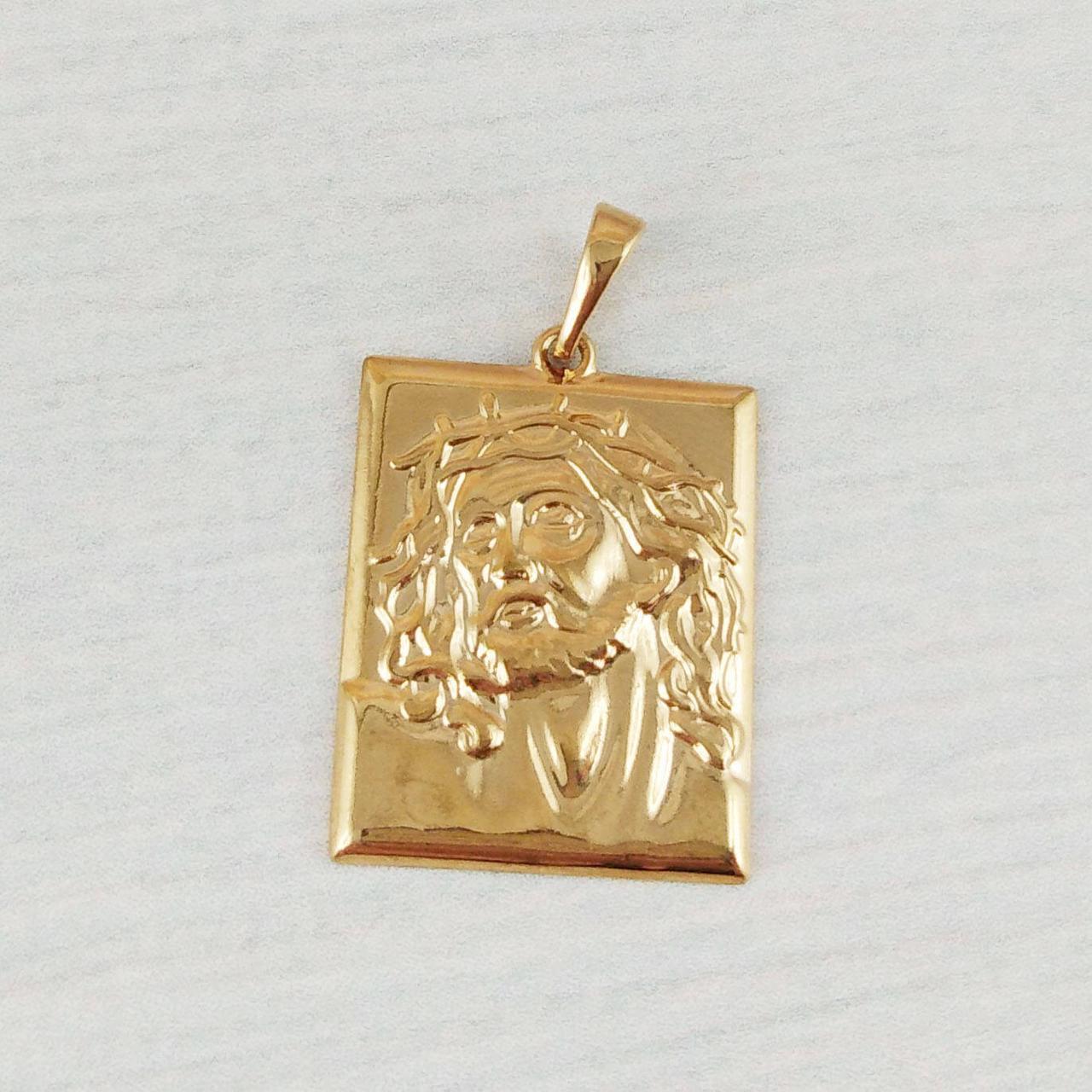 Ладанка XUPING Лик Иисуса, медицинское золото, позолота 18К