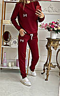 Женский спортивный костюм весна-осень Under (42 44 46 48) (цвет бордо) СП