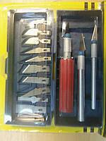 Набір скальпелів AIDA A-313 (ніж d=7mm з лезами 6шт, ніж d=10 мм з лезами 4шт, ніж d=10 мм з посиленою рукоя