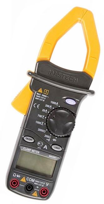Токоизмерительные токовые клещи Mastech MS2001 + мультиметр