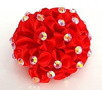 Бант ручной работы, красный шар, диаметр 7 см