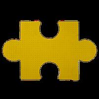 Резиновая плита <<Пазл>> желтого цвета