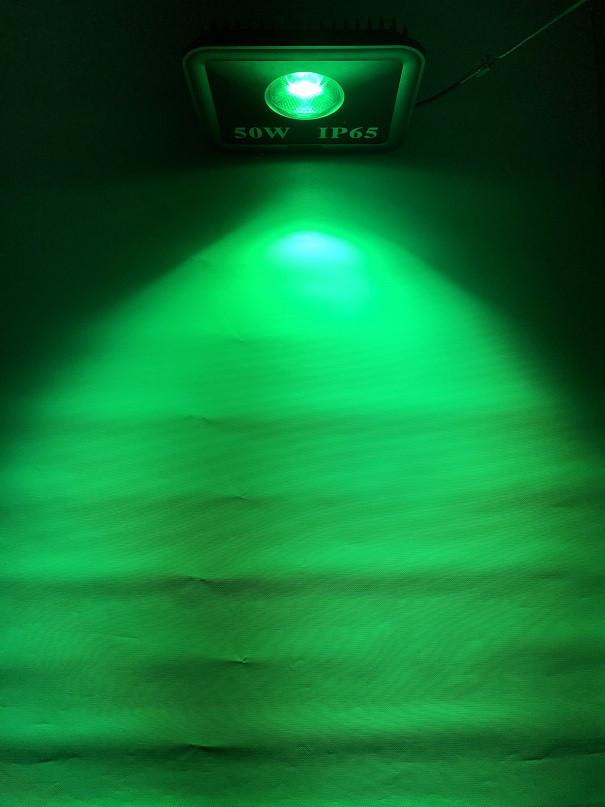 Светодиодный линзованый прожектор SL-50Lens 50W зеленый IP65 Код.59153