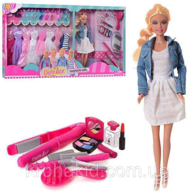 Игровой набор кукла Defa Lucy 8426-BF / Кукла Defa Lucy с нарядами и аксессуарами