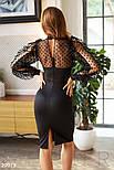 Чорне ефектне плаття з оборками, фото 3