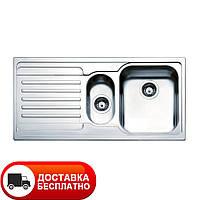 Кухонная двойная метровая мойка Apell Venezia VE1002ILAC LEFT Linen 100*50