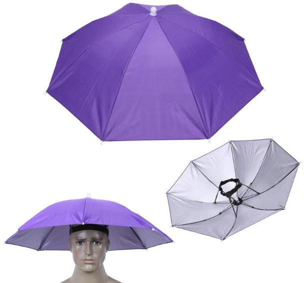 Зонт шляпа на голову -РАЗНЫЕ ЦВЕТА-