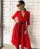Платье женское с поясом  руд250
