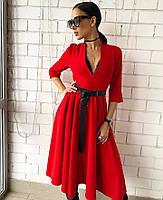Платье женское с поясом  руд250, фото 1
