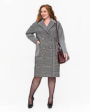 Пальто женское демисезонное оверсайз 1342 | 42-52р., фото 3