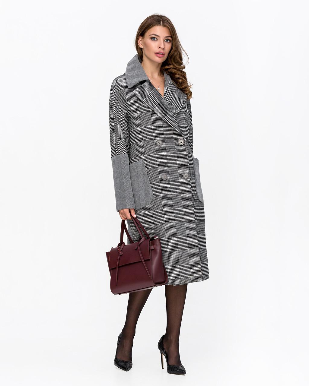 Пальто женское демисезонное оверсайз 1342 | 42-52р.