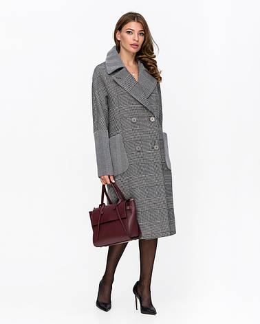 Пальто женское демисезонное оверсайз 1342 | 42-52р., фото 2