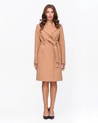 Пальто женское демисезонное классика с поясом 1343 | 40-52р., фото 2