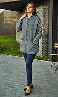 Женский кардиган с капюшоном и функциональными карманами.Размер 52,54.