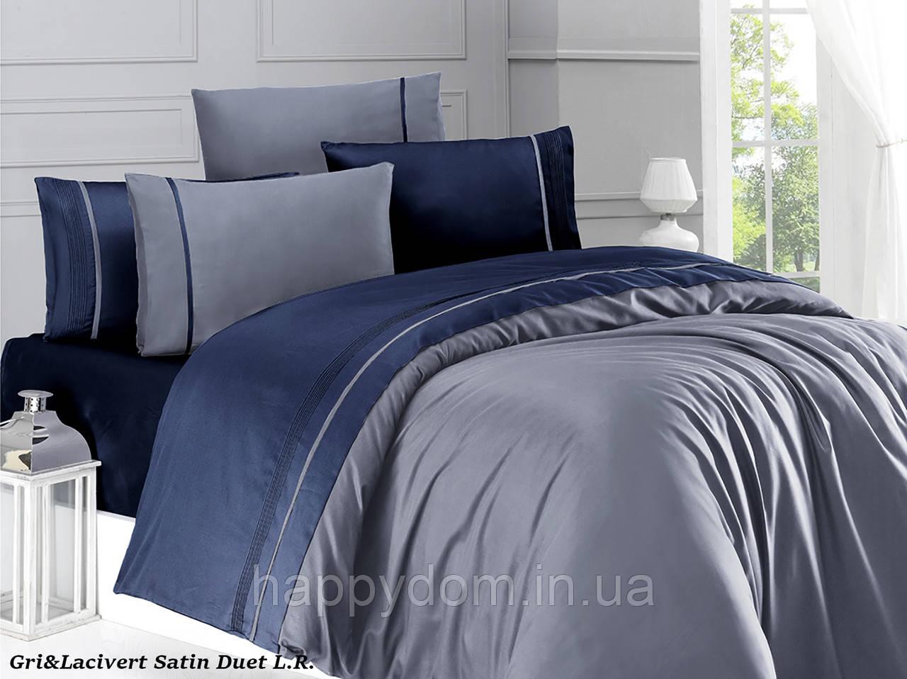 Постельное белье сатин однотонный dark blue
