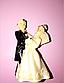 Молд силиконовый для мастики шоколада 5 см свадебный пара, фото 2