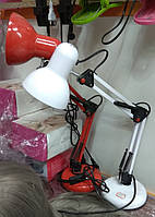 Лампа настольная на подставке, высота 50см, цвет красный, черный и белый, фото 1