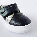 Трендовые кеды-туфли девочкам, р. 26-31 Индиго, фото 9
