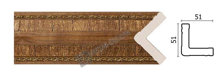 Угловой молдинг Арт-Багет 142-3, интерьерный декор.
