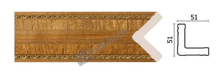 Угловой молдинг Арт-Багет 142-4, интерьерный декор.