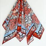 10821-5, павлопосадский платок на голову хлопковый (саржа) с подрубкой, фото 5