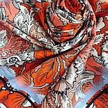 10821-5, павлопосадский платок на голову хлопковый (саржа) с подрубкой, фото 6