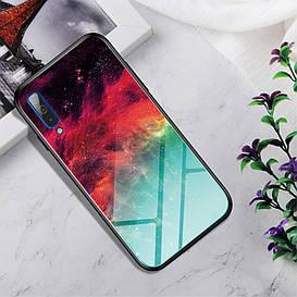 Чехол накладка для Samsung Galaxy A50 A505FD с зеркальной поверхностью, Colorful Nebula